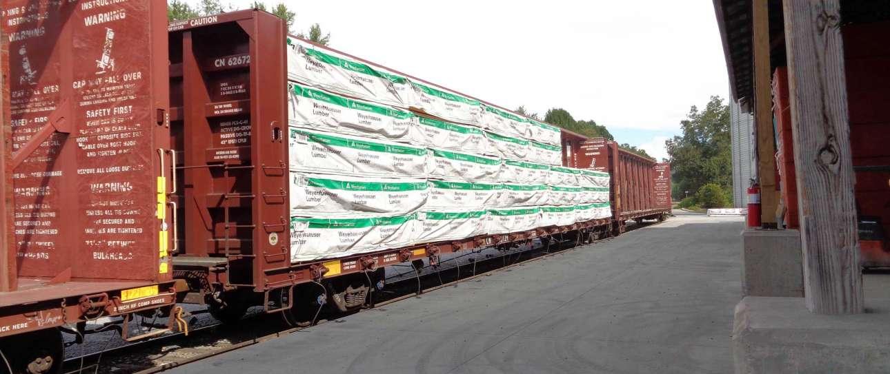 A train cargo half loaded
