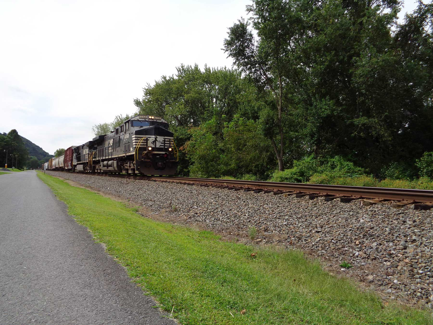 A Train Delivering Materials for a Reload
