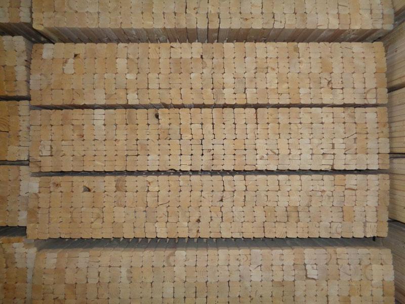 Bundles of Lumber Pieces